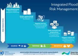 Cascade with potential integrated flood management measures and associated policy and management fields